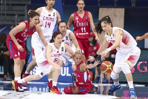 China contra Serbia. Eliminatorias del 5º al 8º puesto