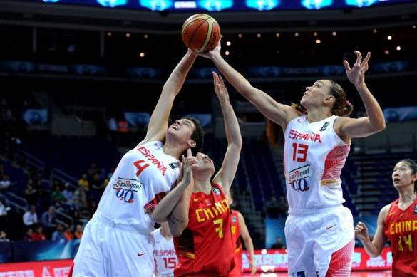 Cuartos de final del Mundial de Turquía. España contra China