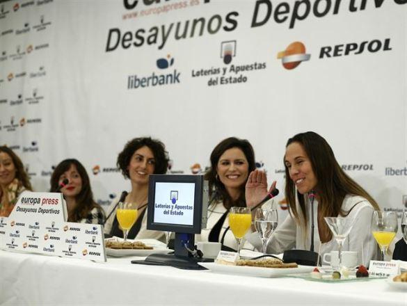 Amaya Valdemoro en los desayunos deportivos de Europa Press