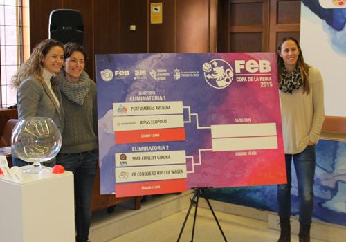 Isa Sánchez, Elisa Aguilar y Amaya Valdemoro.