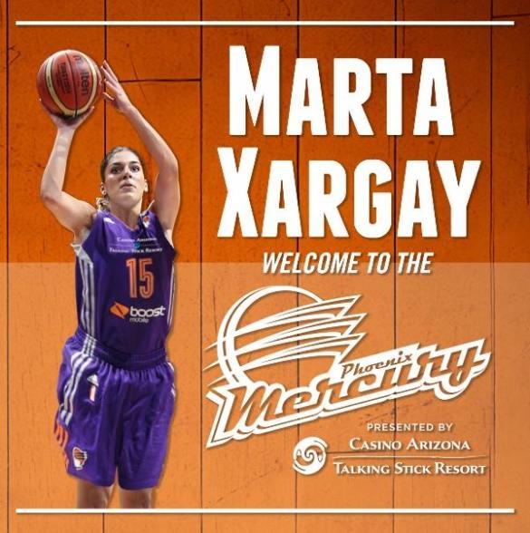 Marta Xargay debut wnba con phoenix mercury