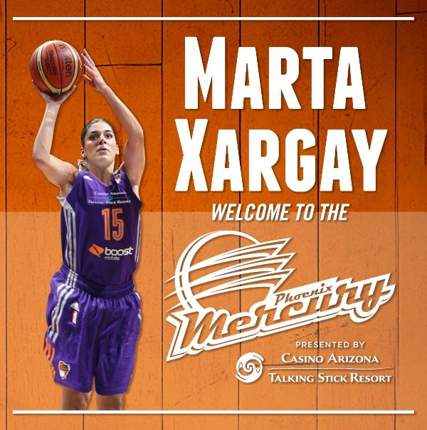Marta Xargay fichaje de Phoenix Mercury