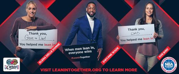 Lean in together. Campaña a favor de la igualdad de género en el trabajo y en el hogar. #LeanInTogether