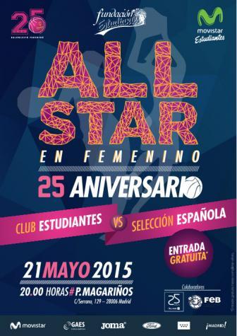 all star femenino entre estudiantes y la selección española