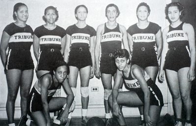 Equipo de Philadelphia Tribune Girls en 1938.
