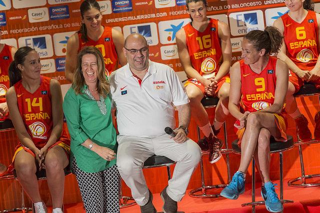Presentación de la selección femenina española.