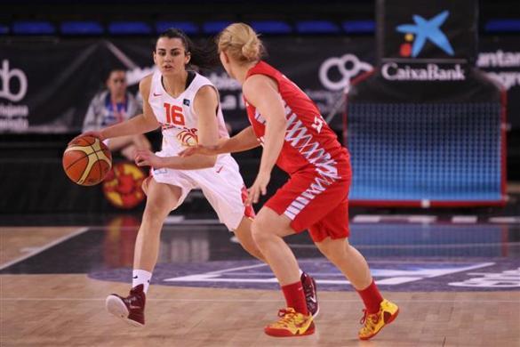 Leticia Romero. España contra Polonia. Torneo de Selecciones Absolutas de Logroño