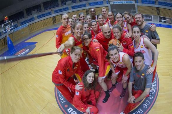 Selfie de la selección española.