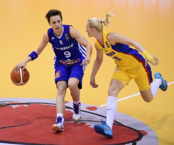 Francia contra Rumanía. Eurobasket de Hungría y Rumanía.