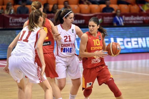 Croacia contra España. Eurobasket de Hungría y Rumanía