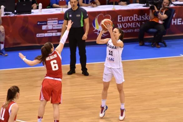 Eslovaquia contra Croacia. Eurobasket de Hungría y Rumanía