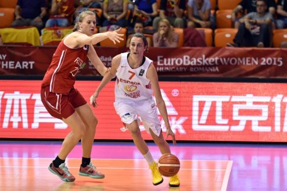 España contra Rusia. Eurobasket de Hungría y Rumanía
