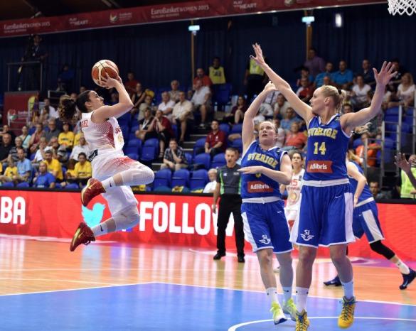 España contra Suecia. Eurobasket de Hungría y Rumanía.