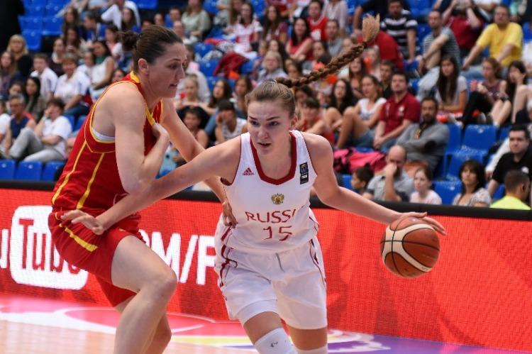 Maria Vadeeva. Rusia. Eurobasket de Hungría y Rumanía
