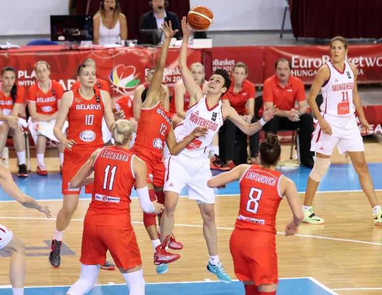 Montenegro contra Bielorrusia. Eurobasket de Hungría y Rumanía.