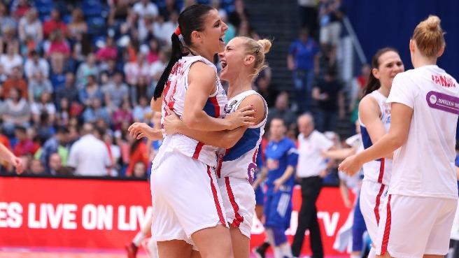 Serbia contra Francia. Final Eurobasket de Hungría y Rumanía.