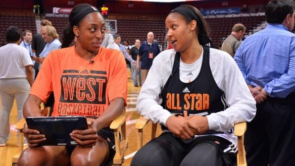 (izquierda) y Maya Moore (derecha), elegidas como mejor jugadoras del mes de julio en la WNBA
