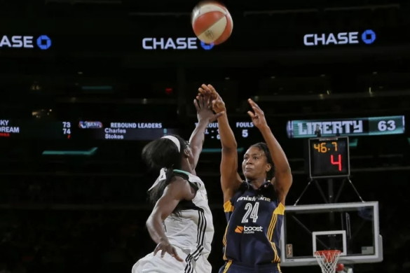 New York Liberty contra Indiana Fever. WNBA Playoffs.