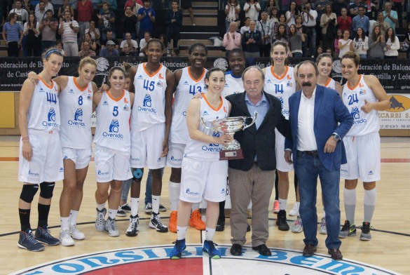 Perfumerías Avenida celebra su título de Campeón de Castilla y León
