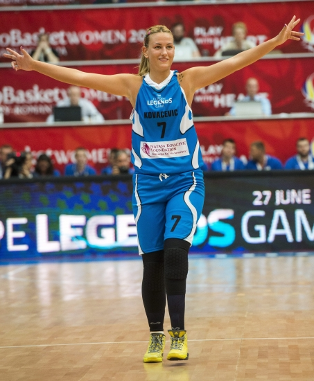 Natasa Kovacevic en el FIBA Europe Legends Game del pasado junio
