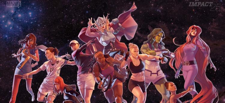 espnw  y marvel lanzan el especial 2015 impact25 con las 25 personalidades más influyentes del deporte femenino