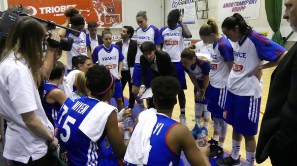 Clasificación Eurobasket de República Checa 2017. Francia en un tiempo muerto