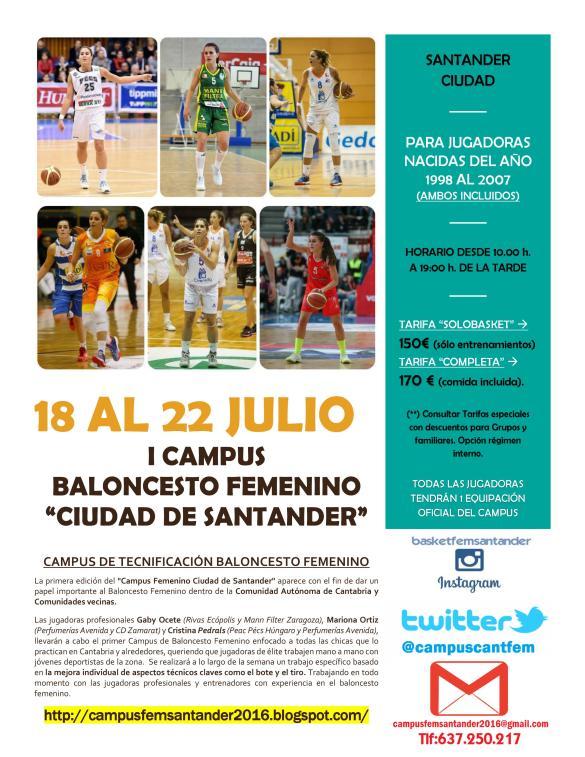 campus baloncesto femenino ciudad de santander