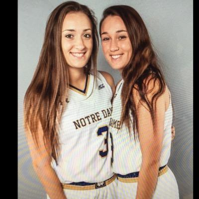 Michaela y Marina Mabrey, jugadoras de Notre Dame