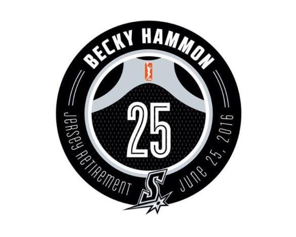 Retirada del dorsal 25 de Becky Hammon en San Antonio Stars