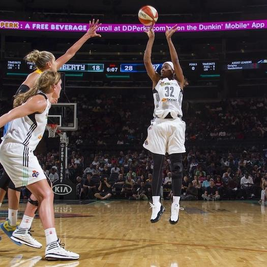 Swin Cash de New York Liberty. Foto: MSG Photos