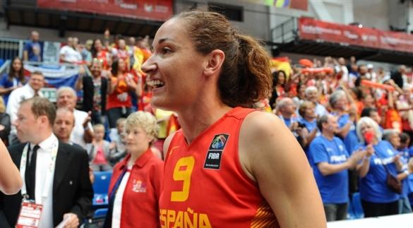 Laia Palau en el pasado Eurobasket de Hungría y Rumanía