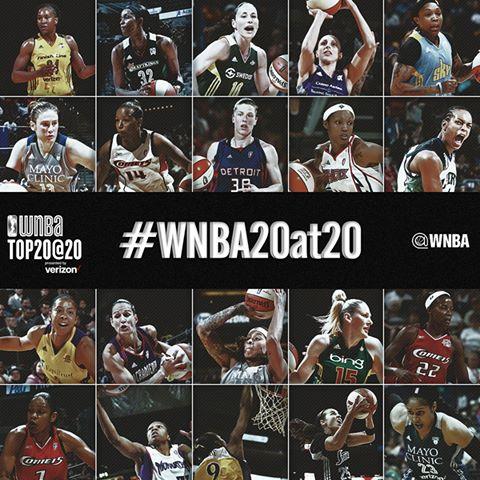 las 20 mejores jugadoras de la WNBA durante los últimos 20 años