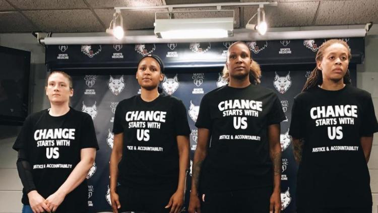 Jugadoras de la WNBA multadas por mostrar su repulsa ante la violencia policial