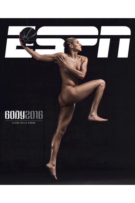 Elena Delle Donne posando desnuda para el especial Body Issue de ESPN