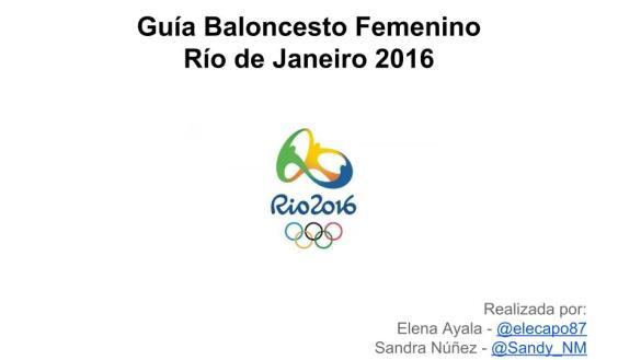 Guía Baloncesto Femenino - Río de Janeiro 2016