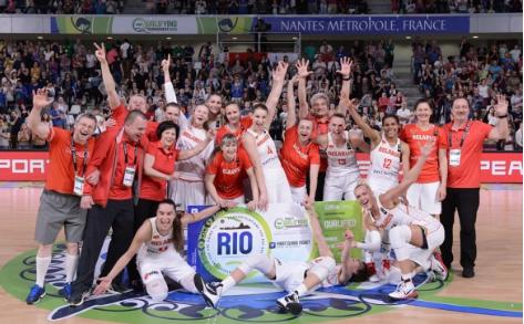 Bielorrusia celebrando el pase a Río 2016