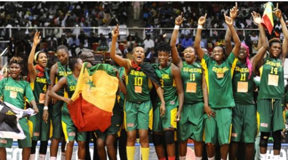Senegal celebrando la victoria y el pase a los Juegos Olímpicos