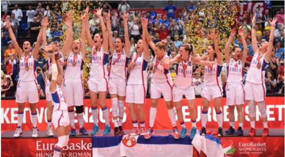 Serbia, vigente campeona de Europa, estará en Río de Janeiro