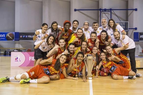España se cuelga el oro en el Europeo U16 Femenina celebrado en Italia.