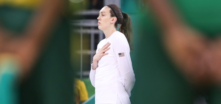 Breanna Stewart en su debut en unos Juegos Olímpicos.