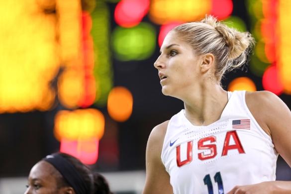 Elena Delle Donne en su debut en unos Juegos Olímpicos con Estados Unidos