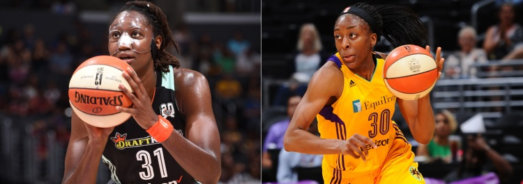 Tina Charles (izquierda) y Nneka Ogwumike (derecha) se disputan el MVP de la WNBA