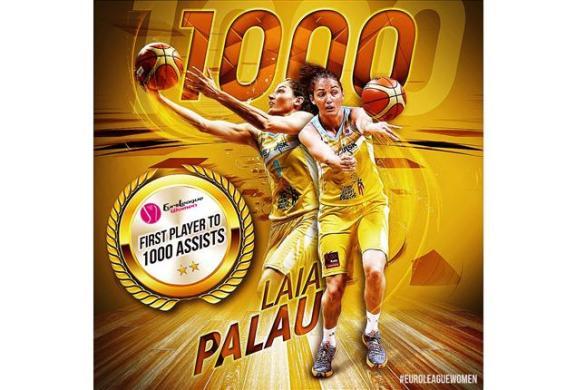 Laia Palau se convierte en la primera jugadora en sumar más de 1000 asistencias en Euroliga Femenina