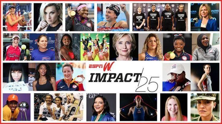 La espnW reconoce la labor de 25 mujeres a lo largo de 2016 en su Impact25