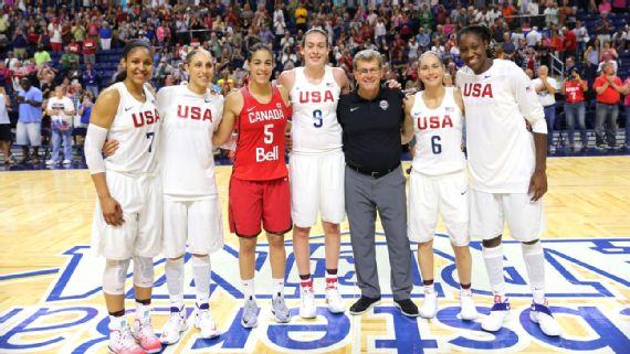 Maya Moore, Diana Taurasi, Kia Nurse, Breanna Stewart, Sue Bird y Tina Charles. Todas ellas, jugadoras de UConn
