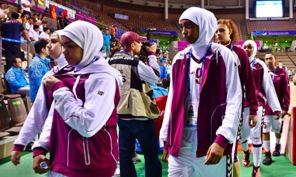 Catar no vivirá más situaciones como la de 2014 donde le impidieron disputar los Asian Games porque sus jugadoras llevaban hijab.