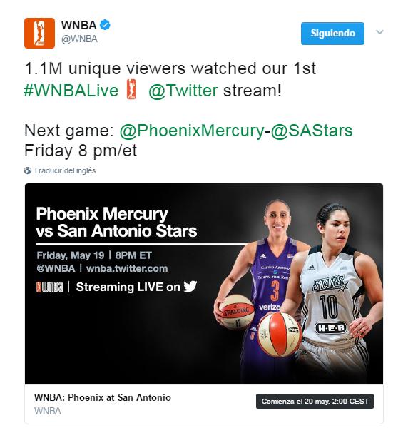 Twitter añade un emoji en los hashtags #WNBA y #WNBALive