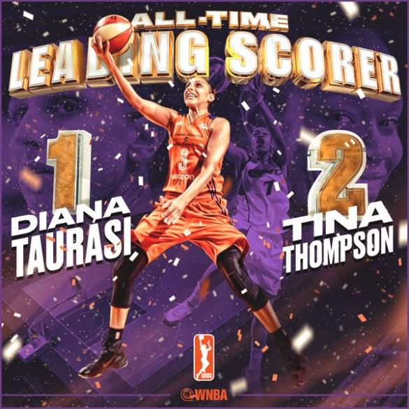 Diana Taurasi, máxima anotadora de la WNBA