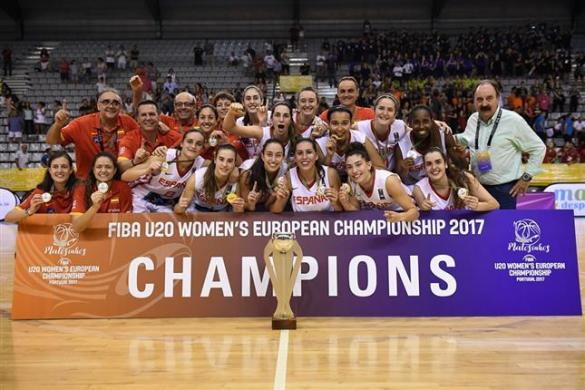 España consigue su tercer oro consecutivo en el Europeo U20