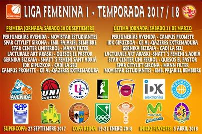 Calendario Liga Femenina 2017-2018